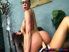 11 breasty gals anal fucking a thong on -