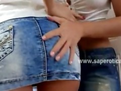 horny lesbian honeys st time on camera having