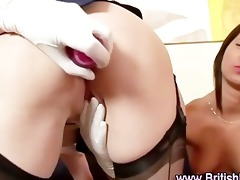 aged british lesbos in nylon nylons fingering