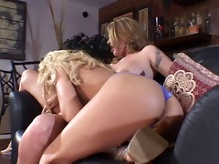 wicked blond lesbos in tattoos and heels vibrator