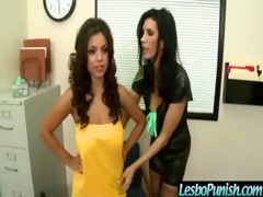 breasty lesbians receives punished and vibrator