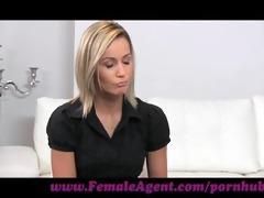 femaleagent. assistant cameraman acquires in on