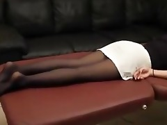 sleep nylon foot worship