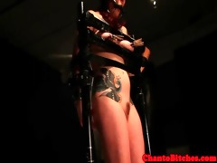 ginger sadomasochism lesbo tied up sub punished