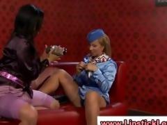 beautiful european lesbian slut play with a toy