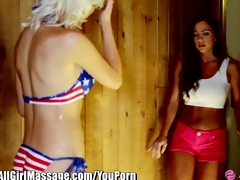 allgirlmassage 6 lesbo babes- all alone in the