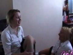 college hotty lesbian babes play truth or dare