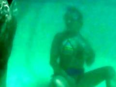 underwater swimming lesson