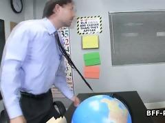 schoolgirls licking snatch in class