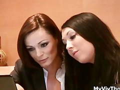glamorous hotties in the office having part1