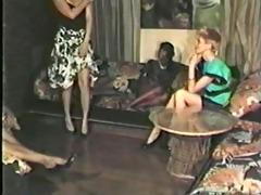 darksome girl, white chap lesbo scene