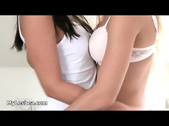hot lesbos from lesbea go eager