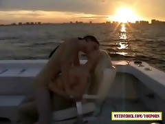 11 hawt lesbos making out on a boat