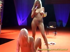 lesbo porn act on public show stage
