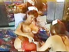 breasty lez nurses play with oil