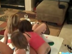 hawt lesbo legal age teenagers playing twister