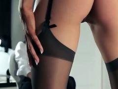 sexy schoolgirls posing herself in panties