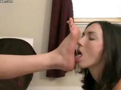lesbo foot worship and domination - goddess