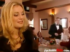 pair having sex whilst blondes watching
