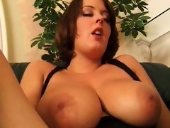 brunette hair chick acquires concupiscent rubbing