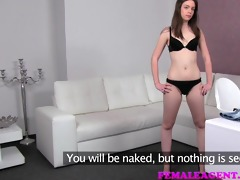 femaleagent silly gorgeous woman acquires agents