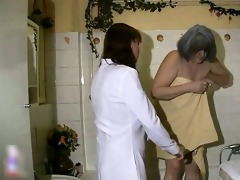 breasty nanny is showered by caregiver part9