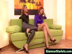 sexy glam dressed lesbians