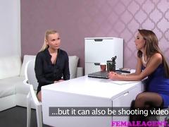 femaleagent blond sexy boss teaches agent the art