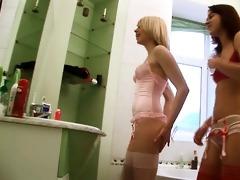 russian serious sex tool testing on latrine