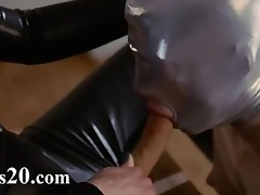 fluent ding-dong lesbian babes in mask playing