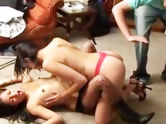 concupiscent lalin girl babes getting drilled by