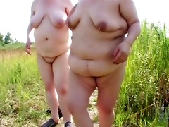 two chunky older lesbian babes