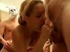 swingers gangbang fuckfest blow jobs and facial