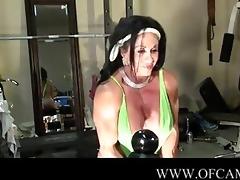 sexy male bodybuilder web camera tease solo-