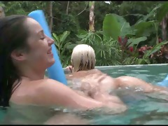 three-some in swimming pool ch7