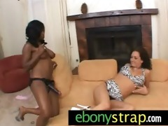 interracial lesbo girls hard ding-dong toy act 511