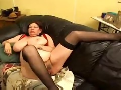 an old granny screwed by a youthful lesbo