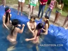 outdoor legal age teenager gals host naked party