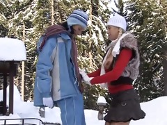 breasty lesbo yvone plays with a lesbo