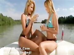 hawt lesbian babes on a boat