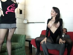 goth chick and ally break her boss ballbusting