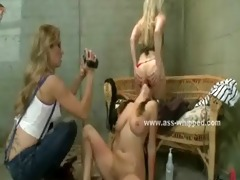 breasty honey abased by pervert lesbian babes
